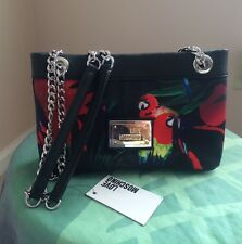 New Love Moschino Borsa canvas st jungle Nero Shoulder bag