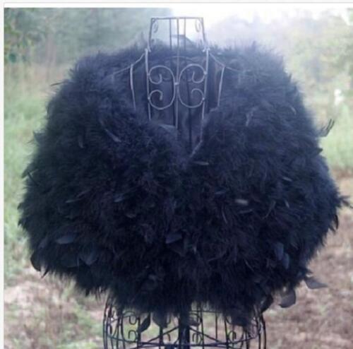 de en plume mariée gris noir de gris mariée fourrure fourrure blanc Fourrure d'autruche cape de châle IwCaq66ER
