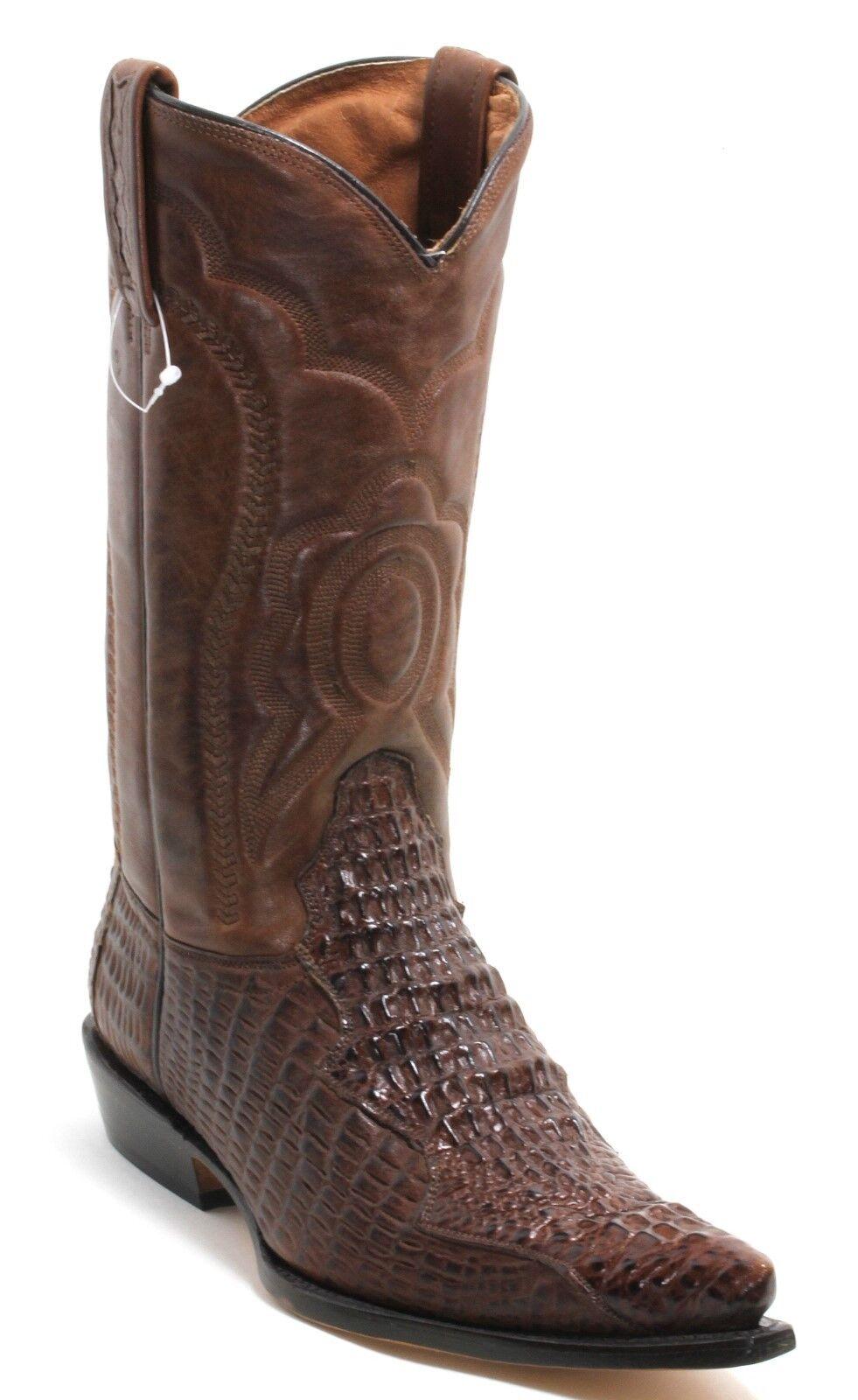 12 Cowboystiefel Westernstiefel Texas Boots Stickerei Catalan Style Krokodil 45