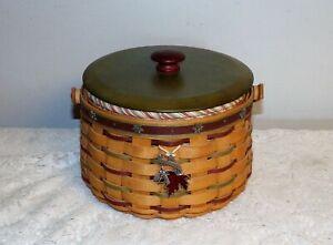 Longaberger-2005-Heritage-Days-Basket-set-tie-on-liner-protector-amp-lid