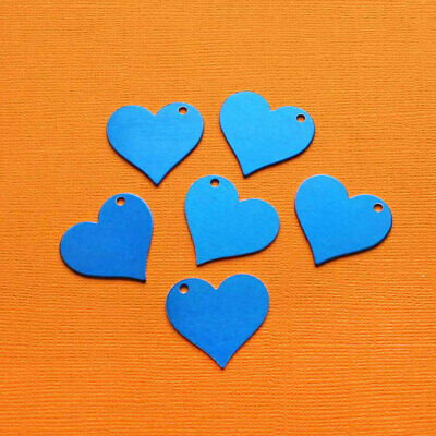 MT377 10 Aluminum Stamping Tags Anodized Aluminum Champagne Tone Hearts