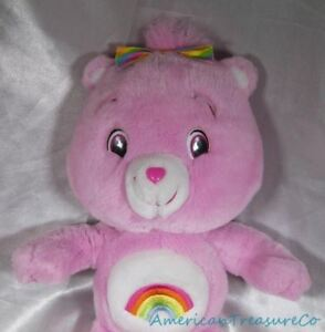 "Intelligent 2007 Play Along Care Bears Peluche 16 "" Souple Rose Cheer W/rainbow Arc"