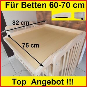 Wickelbrett Wickeltisch Babybett Gitterbett universal 70x140  60x120 cm ANGEBOT