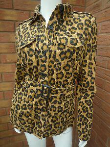 3607995162026 S Lauren 12 £ Leopard maat jasje Print 225 VK 10 Retail Belted Ralph Safari SpUVGLqMjz