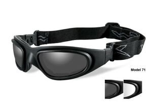 04d096d58499 New Wiley X SG-1 Goggles Matte Black w/Smoke Grey/Clear Lenses #71 ...