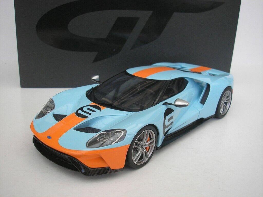 Ford Gt Gulf bluee 1 18 Gt Spirit Gt783 New