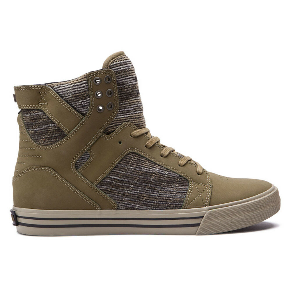 Supra Skytop Schuhes - Olive Multi / Sage