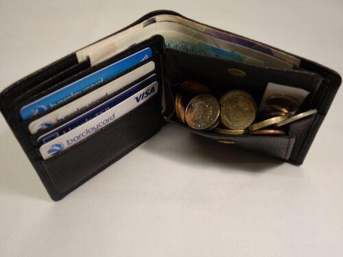 Soft Cuoio in Pelle Uomo Portafoglio Nero RFID Blocco Portafoglio Regalo-Boxed