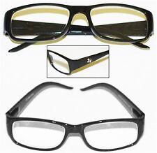 """Reading Glasses """"Pony Logo"""" Black Frame Chunky Sleek Rectangle +2.50 lens"""