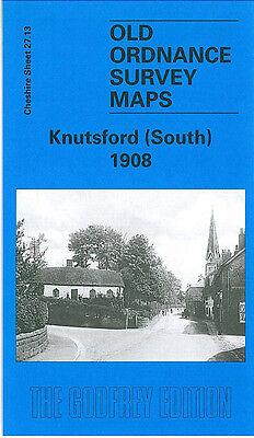 OLD ORDNANCE SURVEY MAP KNUTSFORD SOUTH 1908 ST JOHNS CHURCH BEXTON HALL
