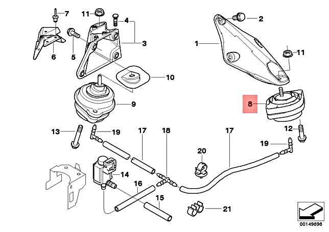 E83 MUKEZON 1pc Transmission Mounting For 2013-2015 BMW X1 /& 2007-2010 BMW X3