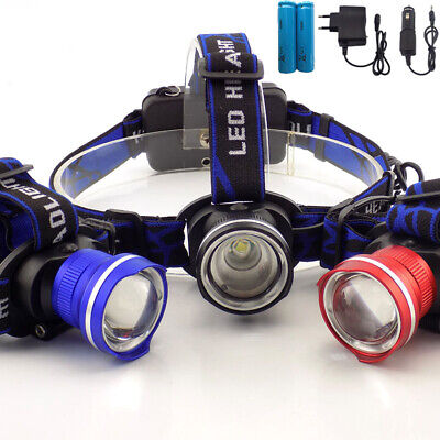 T6 Led Head Light Lamp 3-Mode Zoom Headlight Usb Charge Head Torch Camping Flash