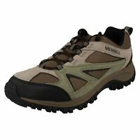 Mens Merrell Phoenix Bluff Putty Suede Lace Up Hiking Style Trainers
