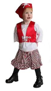 Mullins Square Girl Pirate Baby Costume, Red/Blue - 6-18 Months