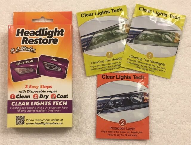 CLT Car Headlight Restoration Kit 3 Headlight Restorer Wipes