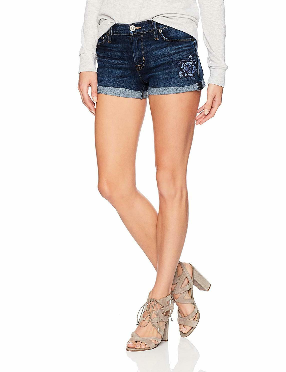 Hudson Jeans Women's Asha Embroidered Midrise Cuffed Jean Short