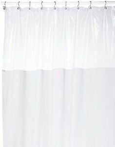 Carnation Home Fashions Standard Window Shower Curtain Clear Top