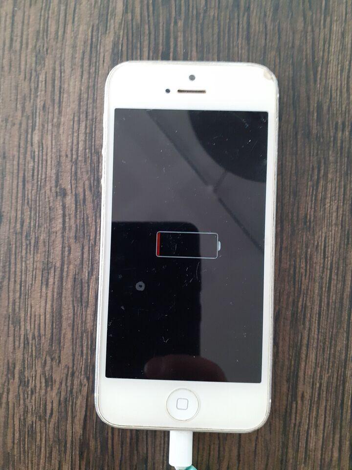 iPhone 5, 8 GB, hvid