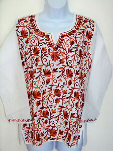 EMBROIDERED-COTTON-TUNIC-TOP-KURTI-FROM-INDIA