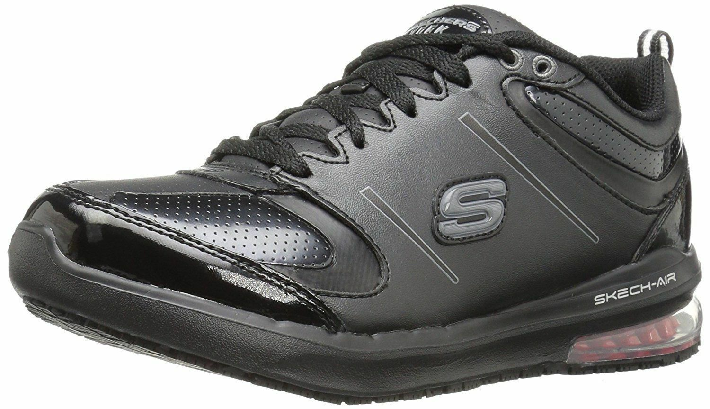 76591 trabajo de Skechers de Mujer Lingle Skech Air Antideslizante Zapato Negro