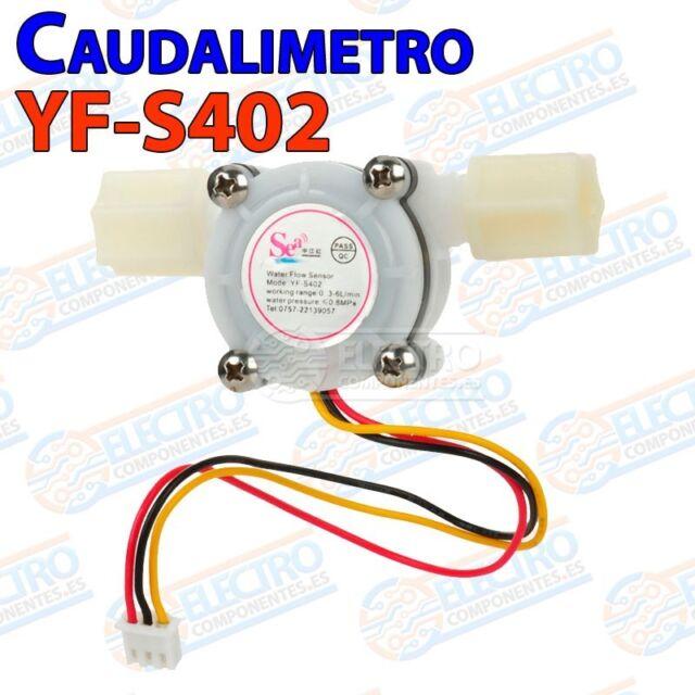 Caudalimetro YF-S402 0.3 6 l/m Flowmeter Counter water agua meter Arduino