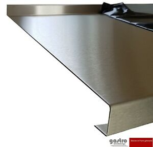 Edelstahl 40er Arbeitsplatte Abdeckplatte 0,8mm Küche Gastro ...