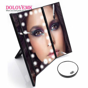 X2 X3 X10 Magnifying Led Lighting Makeup Beauty Mirror