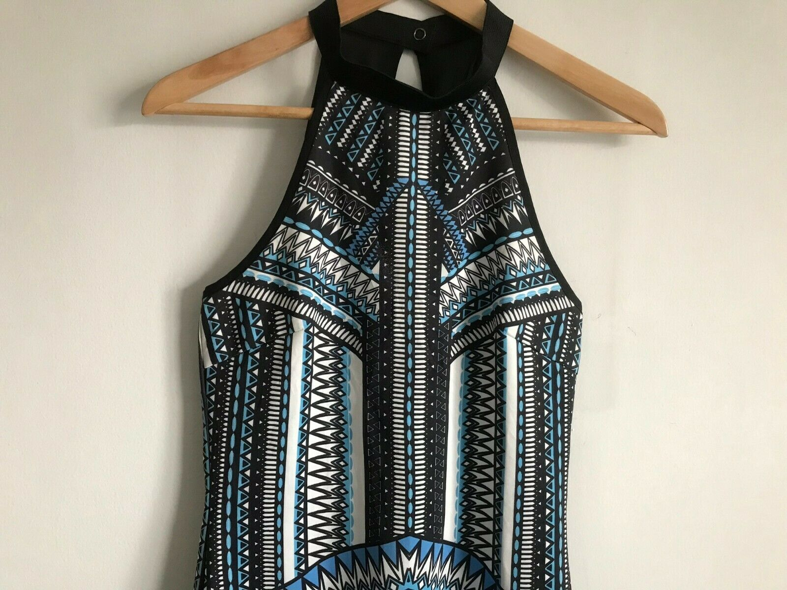 Dotti Mini Short Dress Multi-Color Aztec Print Ro… - image 3