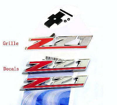 1  OEM 4 X 4 Door Emblem Badge 4x4 Nameplate 3D GM Silverado Sierra Y Chrome Wu