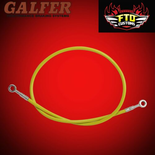 """GSXR 750 Galfer Yellow 36/"""" Extended Rear Brake Line for Swingarm Extensions"""