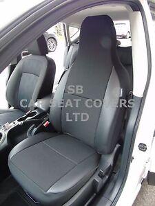I-adapte-a-OPEL-CORSA-voiture-S-Housses-cendrier-noir-bordure-simili-cuir