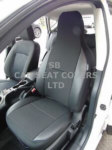 I-adapte-a-DAEWOO-MATIZ-voiture-S-Housses-cendrier-noir-bordure-simili-cuir