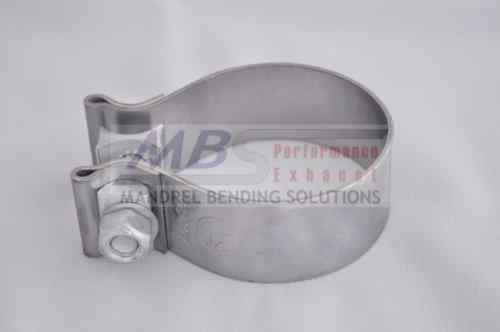 """Exhaust Clamp 2/"""" Accuseal Stainless Steel Downpipe Turbo Race MBS"""