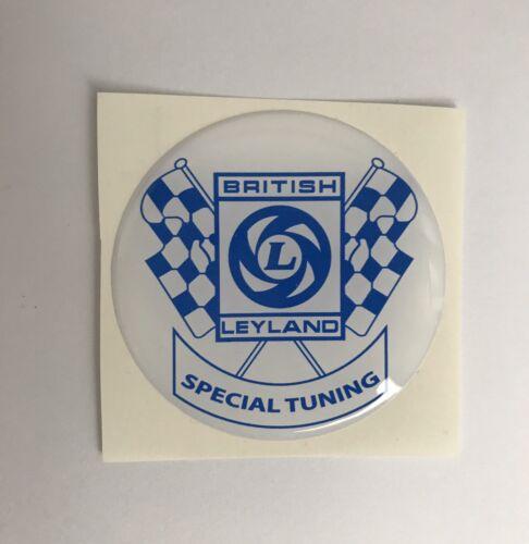 50mm British Leyland Special Tuning Stick On Badge  Classic Mini  Cooper Clubmam