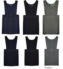 223ada4bcffe item 3 Pleated Bib Pinafore Dress Ages 2-16 Girls School Uniform Grey Black  Navy Grey -Pleated Bib Pinafore Dress Ages 2-16 Girls School Uniform Grey  Black ...