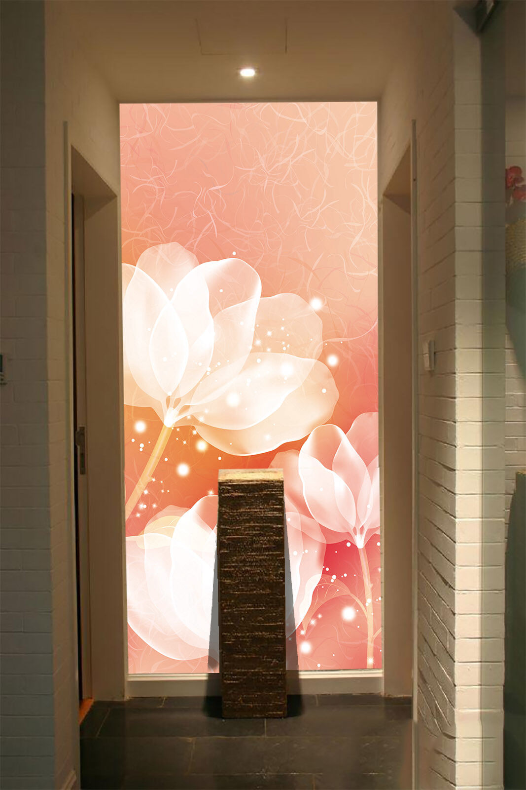 Papel Pintado Mural De Vellón Flores Románticas 342 Paisaje Fondo De Pansize ES