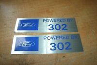 Ford Powered By 302 Valve Cover Decals Pair Mustang Torino F-150 Maverick
