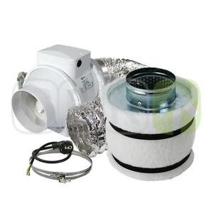 Klimaset 160m³-h échappement d'air-set AKF Charbon Actif-Filtre lüftungsset ventilateur-set Grow-ter Lüftungsset Lüfter-set Growafficher le titre d`origine FFhlZjFz-07184341-956756182