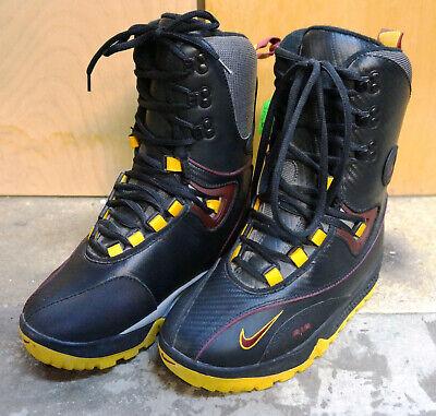 NIKE ACG MERU 2 SNOWBOARD BOOTS MEN'S 5.5 WOMEN'S 7 BLACK/BURGUNDY/YELLOW,  NEW! | eBay