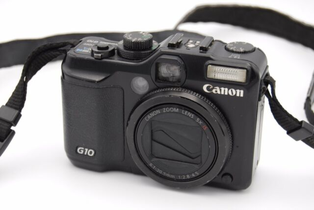Canon Powershot G10 14.7MP 3'' Screen 5x Zoom Digital Camera - Black