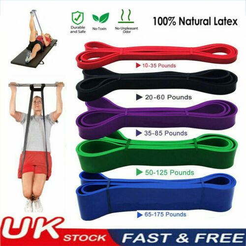 Widerstand BANDS Home Fitness Übung Training Latex Set Loop Leg Heavy Pull Up