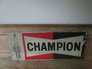 Champion-aluminium-spark-plug-sign-Champion-sign-Vintage-sign-spark-plug-sign
