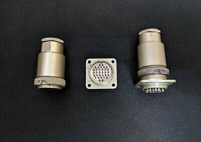 Military 76 pin Hermetic Connectors  SET Male+Female.