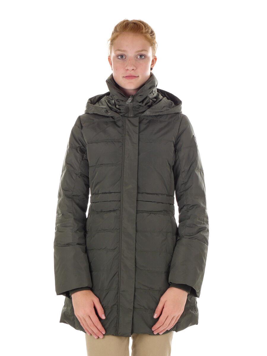CMP Daunenjacke Jacke WOMAN FIX HOOD COAT dunkelgrün winddicht Nylon