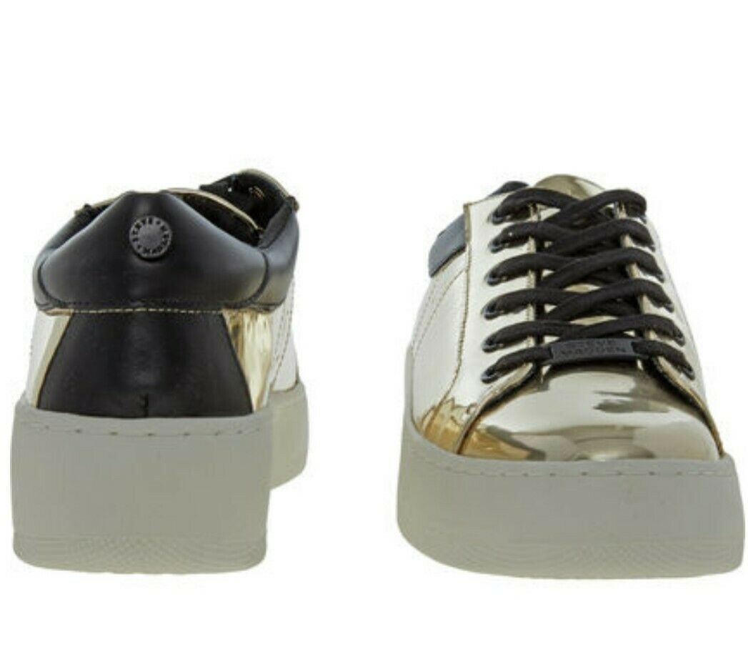 STEVE MADDEN Women's gold Mirror Sneakers Bertie - M  Size UK 3 - EUR 36 - US 6