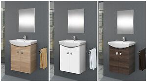 badm bel set 55 g ste wc waschtischunterschrank keramikwaschbecken spiegel ebay. Black Bedroom Furniture Sets. Home Design Ideas
