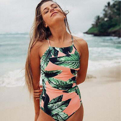 Women's One-Piece Swimsuit Swimwear Padded Push Up monokini Bikini Bathingsuit