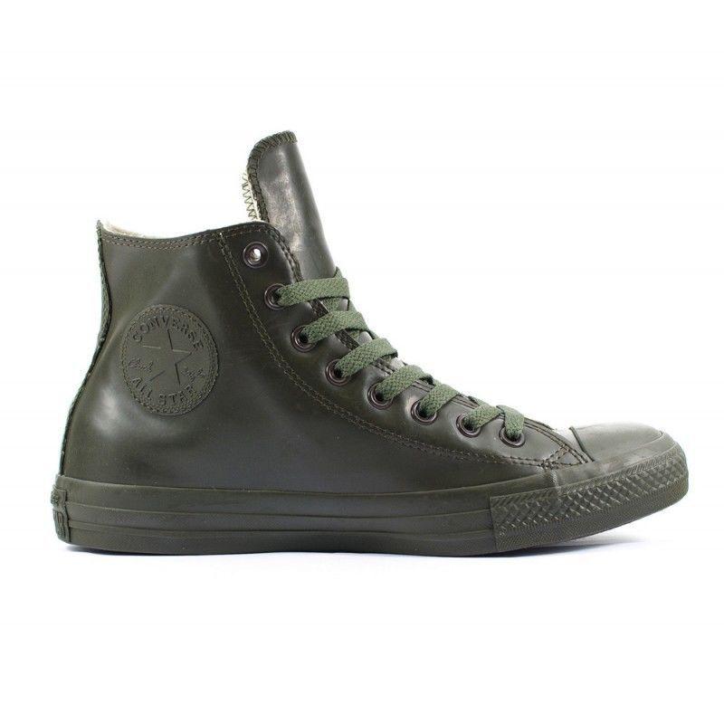 Converse all star CT hi Gummi grün Mann Frau hohe Schuhe chaussure 155156C