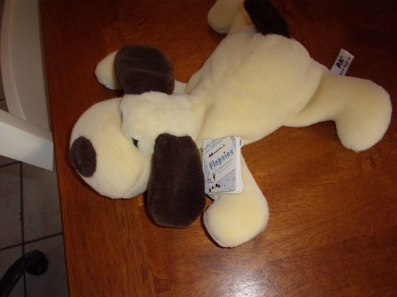 A & a cream brown ivory puppy dog new 06243 flopper 13