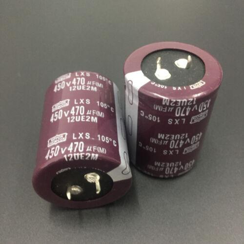5pcs 470uF 450V Japan NCC Nippon LXS 35x45mm 450V470uF Snap-in Capacitor